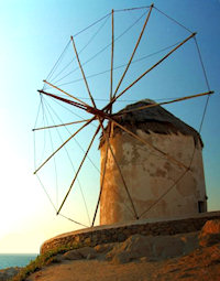 myknos ancient windmill
